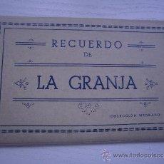 Postales: RECUERDO DE LA GRANJA - SEGOVIA - COLECCION MEDRANO - CUADERNILLO CON 10 POSTALES. Lote 33025282