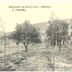 Postales: TARJETA POSTAL DE SEGOVIA - ACADEMIA DE ARTILLERIA Nº 4 PLAZUELA. Lote 33061071