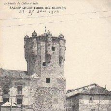 Postales: SALAMANCA, TORRE DEL CLAVERO, EDITOR: HAUSER Y MENET PARA VIUDA DE COLÓN E HIJOS Nº 22.... Lote 33335777