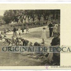 Postales: (PS-29165)POSTAL FOTOGRAFICA DE BURGOS-LAVANDERAS EN EL RIO. Lote 33617757