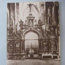 Cartoline: POSTAL ANTIGUA DEL TRASCORO DE LA CATEDRAL DE LEÓN. Lote 33631757