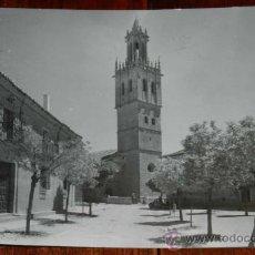 Postales: ANTIGUA FOTO POSTAL DE FUENTES DE NAVA, PALENCIA, N. 1, IGLESIA DE SAN PEDRO, ED. SICILIA, NO CIRCUL. Lote 34114993