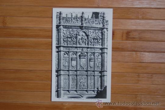 FACHADA UNIVERSIDAD SALAMANCA AÑOS 40. HELIOTIPIA ARTÍSTICA. SIN CIRCULAR (Postales - España - Castilla y León Antigua (hasta 1939))