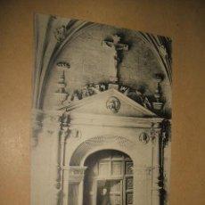 Postales: CARRION DE LOS CONDES PALENCIA INTERIOR DEL CLAUSTRO DE SAN ZOILO PUERTA CLAUSTRAL HACIA 1910 . Lote 34376675