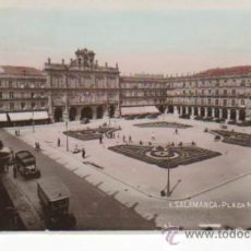 Postales: POSTAL COLOREADA DE SALAMANCA: PLAZA MAYOR. Lote 34627215