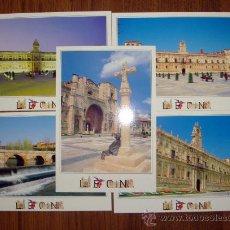 Postales: LOTE 5 POSTALES DISTINTAS HOSTAL SAN MARCOS DE LEÓN-NUEVAS, FOTOS. JOSÉ BAREA-. Lote 34692943
