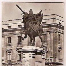 Postales: ANTIGUA POSTAL 71 BURGOS MONUMENTO AL CID CAMPEADOR ESCRITA 1962 HELIOTIPIA ARTISTICA. Lote 34952981