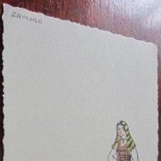 Postkarten - TRAJE ZAMORA DIBUJO DE AS - 34969356
