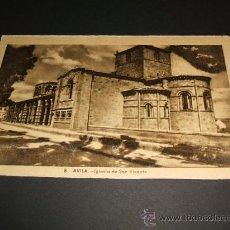 Postales: AVILA IGLESIA DE SAN VICENTE. Lote 35219378