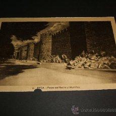 Postales: AVILA PASEO DEL RASTRO Y MURALLAS. Lote 35219400