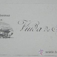 Postales: ANTIGUA LITOGRAFIA CON PUBLICIDAD DE FABRICA DE HARINAS DE BEJAR (SALAMANCA), VIUDA DE FAURE, MIDE 2. Lote 35227203