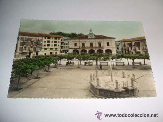 VILLARCAYO BURGOS PLAZA MAYOR POSTAL FOTOGRAFICA IMPRENTA GARCIA (Postales - España - Castilla y León Antigua (hasta 1939))