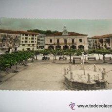 Postales: VILLARCAYO BURGOS PLAZA MAYOR POSTAL FOTOGRAFICA IMPRENTA GARCIA. Lote 35470003