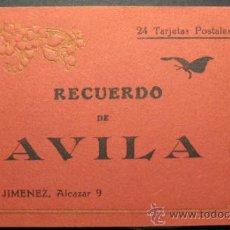 Postales: RECUERDO DE AVILA. BLOC COMPLETO DE 24 POSTALES. ED. PEDRO JIMENEZ. 9 X 15,5 CM. Lote 35504973