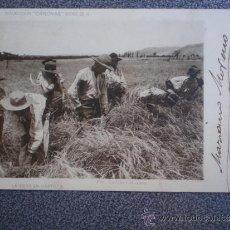 Postales: POSTAL AÑO 1902 LA SIEGA EN CASTILLA COLECCIÓN CANOVAS. Lote 35584031