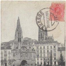 Postales: BURGOS.- PUENTE Y ARCO DE SANTA MARÍA. (C.1910).. Lote 35802638