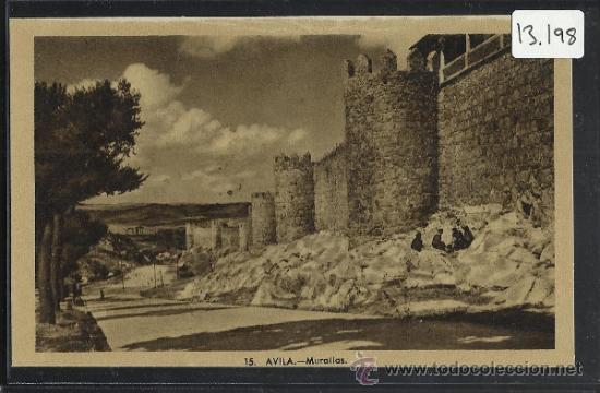 AVILA - 15 - MURALLAS - HELIOTIPIA ARTISTICA - (13.198) (Postales - España - Castilla y León Antigua (hasta 1939))