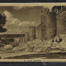 Postales: AVILA - 15 - MURALLAS - HELIOTIPIA ARTISTICA - (13.198). Lote 35864550