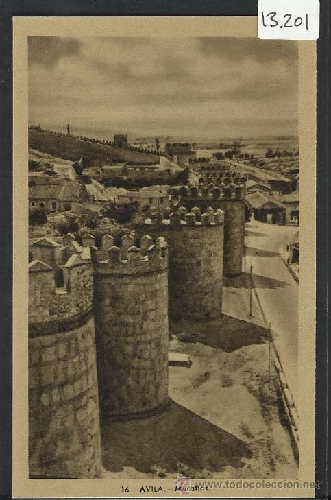 AVILA - 16 - MURALLAS - HELIOTIPIA ARTISTICA - (13.201) (Postales - España - Castilla y León Antigua (hasta 1939))