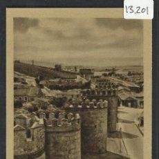 Postales: AVILA - 16 - MURALLAS - HELIOTIPIA ARTISTICA - (13.201). Lote 35864647