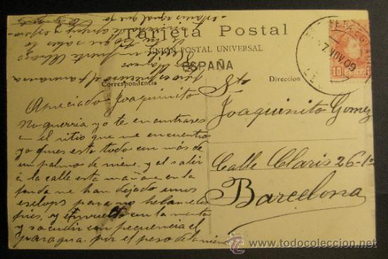 Postales: ASTORGA. EL JARDIN PARTE CENTRAL, Nº 3. CIRCULADA 1909 - Foto 2 - 35883316