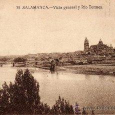 Postales: POSTAL DE SALAMANCA, VISTA GENERAL DEL RIO TORMES,CIRCULADA. Lote 35943934