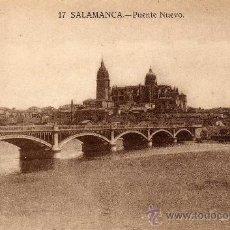 Postales: POSTAL DE SALAMANCA, PUENTE NUEVO, NO CIRCULADA. Lote 35943961