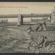 Postales: LEON - 15 - PUENTE DE LA ESTACION SOBRE EL BERNESGA -THOMAS - (14.090). Lote 36308379