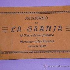 Postales: RECUERDO DE LA GRANJA. 10 VISTAS DE SUS JARDINES Y MONUMENTALES FUENTES. PRIMERA SERIE.. Lote 36407769