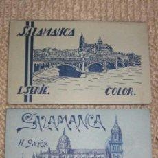 Postales: SALAMANCA. LOTE DOS CARNETS DE 10 POSTALES CADA UNO, FOTOCOLOR MANEN, HELIOTIPIA ARTÍSTICA ESPAÑOLA. Lote 36552447