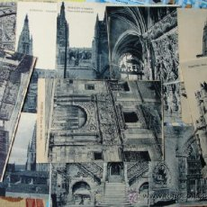 Postales: BURGOS.LOTE 13 POSTALES .HELIOTIPIA ARTISTICA ESPAÑOLA .S/C. Lote 36568519