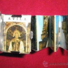 Postales: POSTALES DE ÁVILA, DESPLEGABLES RECOGIDAS EN UN LIBRO METÁLICO, MINIATURA 3 X 2 CM.. Lote 37295623
