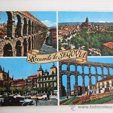 Postales: POSTAL - SEGOVIA - VARIOS ASPECTOS - 1969 - SIN CIRCULAR. Lote 36915630