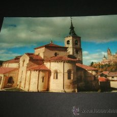 Postales: SEGOVIA IGLESIA DE SAN MILLAN AL FONDO LA CATEDRAL POSTAL 1961. Lote 37016757