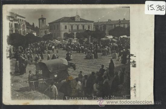 VILLARCAYO - PLAZA DEL MERCADO - FOTOGRAFICA - (15.383) (Postales - España - Castilla y León Antigua (hasta 1939))