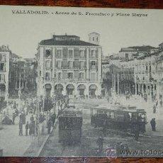 Postales: ANTIGUA POSTAL DE VALLADOLID, ACERA DE SAN FRANCISCO Y PLAZA MAYOR, J. H. VALLADOLID, SIN CIRCULAR. Lote 37300463