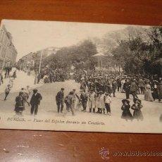 Postales: BURGOS POSTAL PASEO DEL ESPOLON DURANTE UN CONCIERTO. Lote 37752227