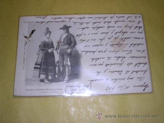 SEGOVIA - ALDEANOS DE LA PROVINCIA ( CASTILLA LA VIEJA )SERIE B Nº16 CIRCULADA 1903 - FOT. LAURENT (Postales - España - Castilla y León Antigua (hasta 1939))