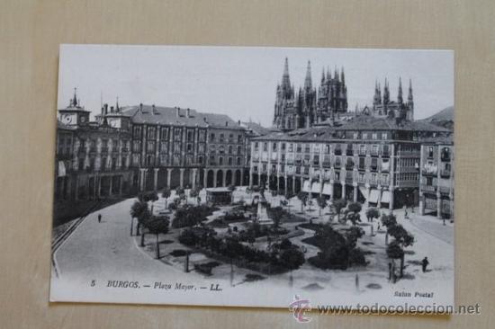 POSTAL. BURGOS. PLAZA MAYOR. SALÓN POSTAL. (Postales - España - Castilla y León Antigua (hasta 1939))