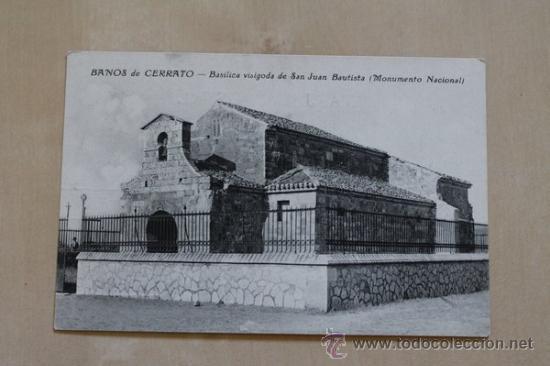 POSTAL. BAÑOS DE CERRATO. BASÍLICA VISIGODA DE SAN JUAN BAUTISTA. (MONUMENTO NACIONAL). (Postales - España - Castilla y León Antigua (hasta 1939))