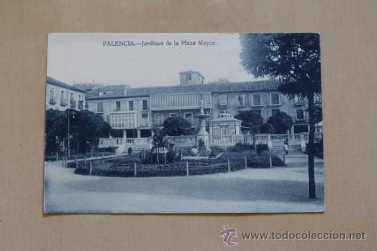 POSTAL. PALENCIA. JARDINES DE LA PLAZA MAYOR. EDICIÓN Y FOTOS ALONSO. (Postales - España - Castilla y León Antigua (hasta 1939))