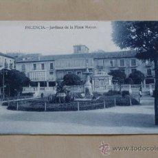 Postales: POSTAL. PALENCIA. JARDINES DE LA PLAZA MAYOR. EDICIÓN Y FOTOS ALONSO.. Lote 38237078