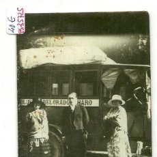 Postales: (PS-35725)POSTAL FOTOGRAFICA DE BELORADO-COCHE DE LINEA DESTINO HARO(LA RIOJA). Lote 38497802