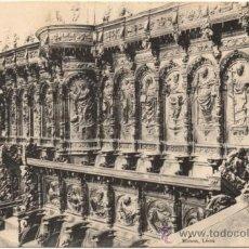 Postales: LEÓN.- DETALLE DE LA SILLERÍA DEL CORO DE LA CATEDRAL. (C.1900).. Lote 38657650