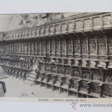 Postales: POSTAL. BURGOS. CATEDRAL. DETALLE DEL CORO. HAUSER Y MENET.. Lote 38870431