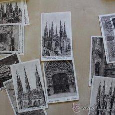 Postales: LOTE DE 22 POSTALES ANTIGUAS DE LA CATEDRAL DE BURGOS. HAUSER Y MENET.. Lote 39009922