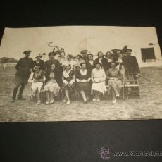 Postales: VALLADOLID POSTAL FOTOGRAFICA GRUPO MILITARES ACADEMIA DE CABALLERIA CON SEÑORAS AÑOS 20. Lote 39117347