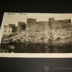 Postales: AVILA MURALLAS Y RIO ADAJA POSTAL COLECCION HISPANIC SOCIETY DE NUEVA YORK. Lote 39119840