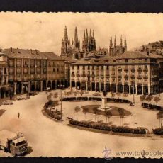 64 Burgos. Plaza Mayor. Circulada 1958.
