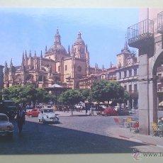 Postales: PLAZA GENERAL FRANCO, SEGOVIA, ED. GARCÍA GARRABELLA. Lote 39315295